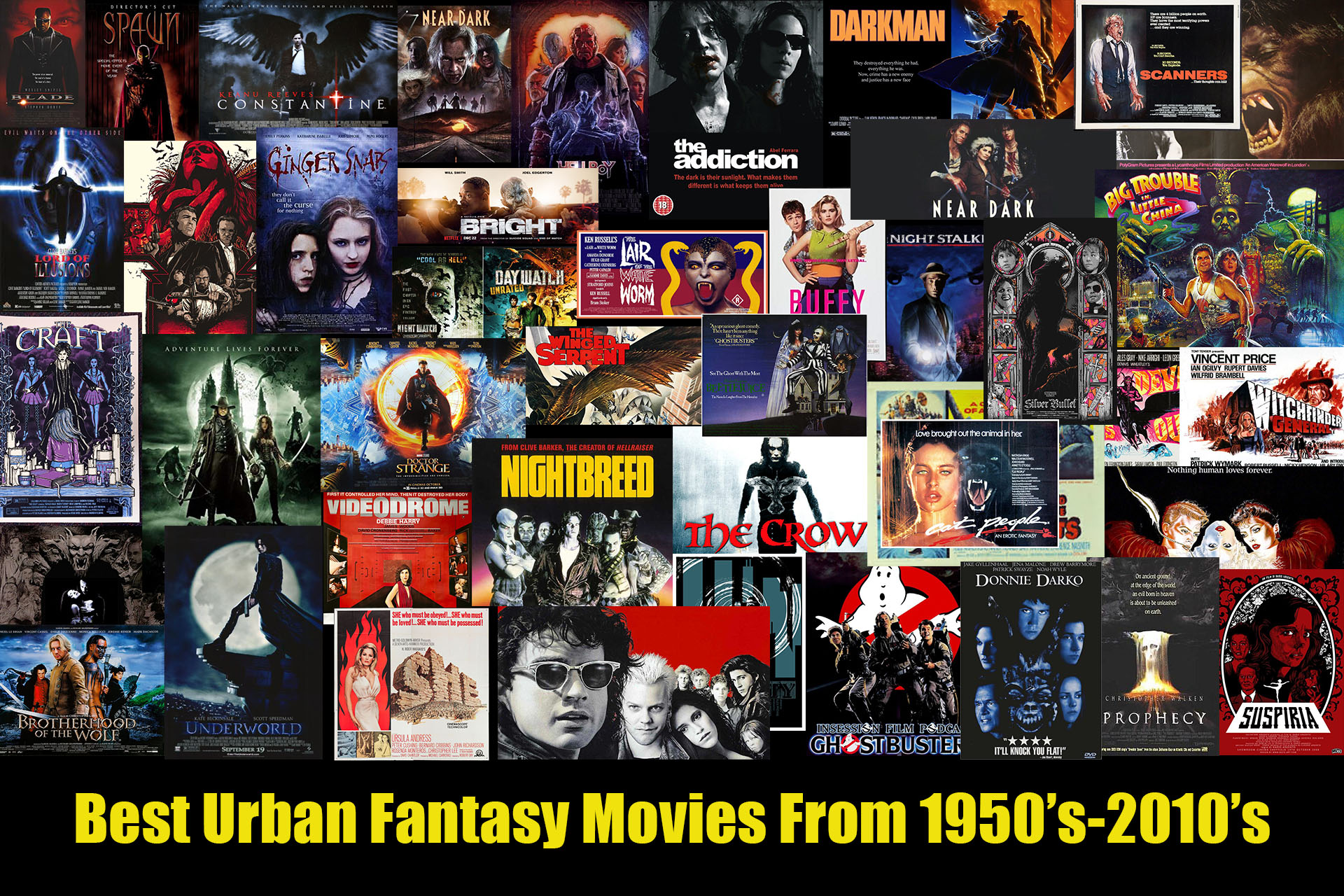 urban fantasy movies